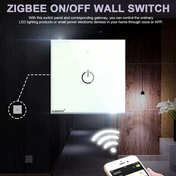 ZigBee switch smart light control Wireless wall remote smart home led ON/OFF work with amazon echo plus gateway Free shipping - DISCOUNT ITEM  20 OFF Lights & Lighting