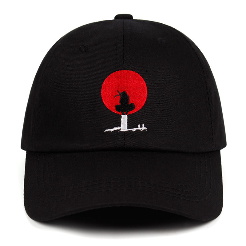 Itachi Akatsuki Anime Naruto Dad Hat 100% Cotton Japanese Uchiha Sasuke Family Logo Embroidery   Baseball     Caps   Snapback Hat