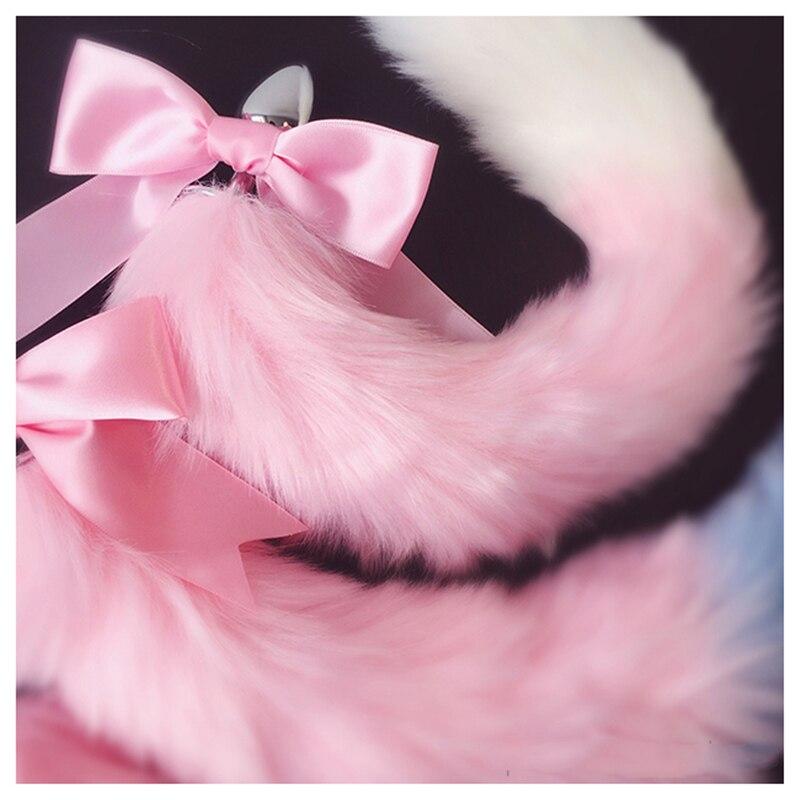 Image 4 - Лисий хвост бант металлическая Анальная пробка милые мягкие ободки с кошачьими ушками эротические аксессуары для косплея взрослые секс игрушки для пар     АлиЭкспресс