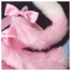 Image 4 - שועל זנב קשת מתכת התחת אנאלי תקע חמוד רך חתול ארוטי קוספליי אביזרי למבוגרים אבזרי מין לזוגות