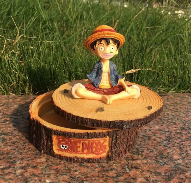 [TML] Very unique one piece luffy ashtray figure model Tea table Desk home decoration statue resin crafts best gift