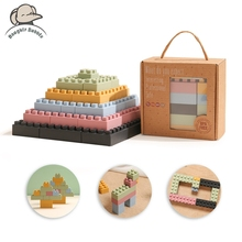 20PCS Silicone Assembled Block Baby Building Blocks Toys Box DIY City Part Houses Wall Constructor Montessori Educational Toys