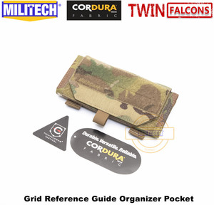 Image 5 - MILITECH TWINFALCONS TW 500D Delustered Cordura Molle 그리드 레퍼런스 가이드 주최자 포켓 좌표지도 Combat Admin Pouch