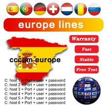 2021 The Most Stable Cccams for Europe Spain 8 line Cccam Satellite tv Receiver 8 Clines WIFI FULL HD DVB-S2 Support Ccams