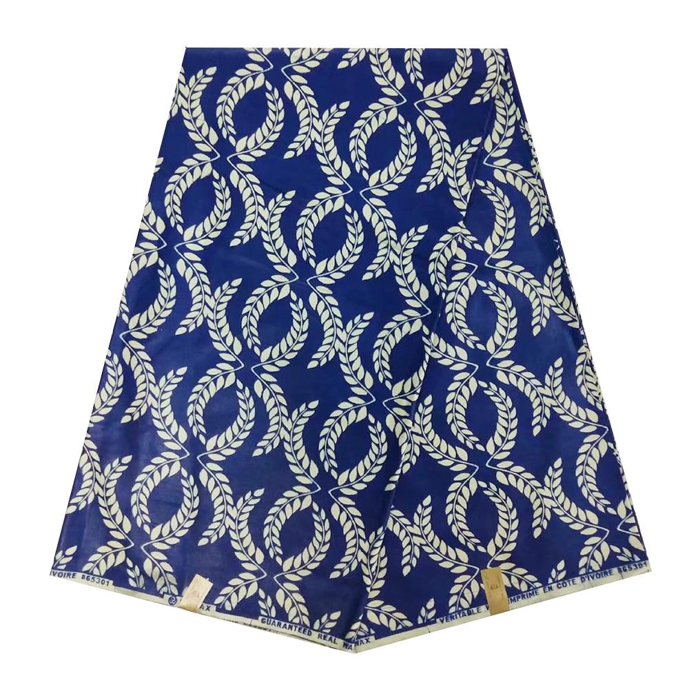 Real Super Java Veritable Block Print African Wax Fabric 100% Cotton, Ankara JAVA Wax Print Fabric For Sewing Patchwork 6 Yards