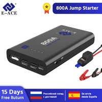 E-ACE Auto Starthilfe Power Bank 800A 12V Auto Batterie Ladegerät Booster Batterie Ausgangs Gerät Auto Notfall Power
