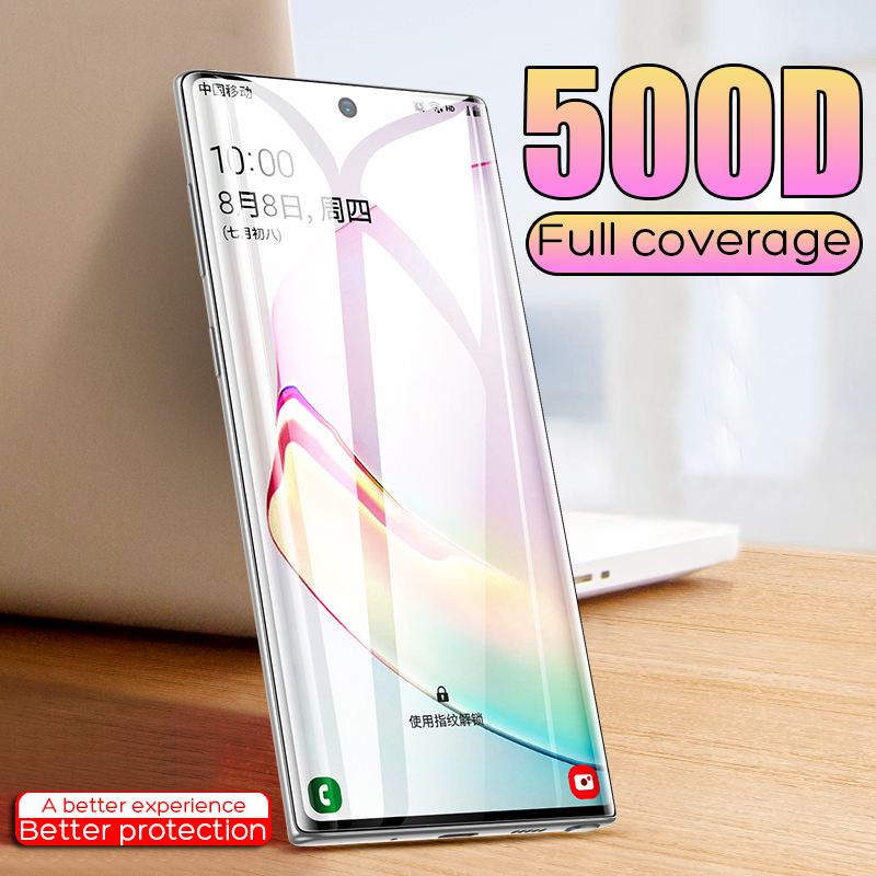 500D Full Coverage Tempered Glass For Samsung Galaxy S8 S9 Plus  Glass Protective Film For Samsung Note 8 9 Screen Protector