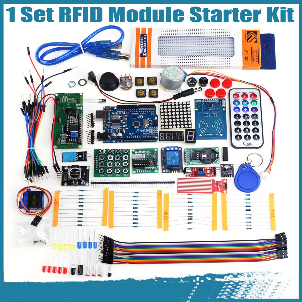 RFID Starters Kit for Arduino UNO R3 Upgraded version Learning Suite With Retail Box