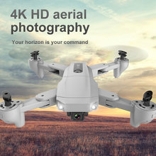 K2 GPS Professhional Drone With Dual Camera 4K Foldable HD WiFi FPV Selfie Optical Flow Position RC Helicopter Kids Toy Aircraft