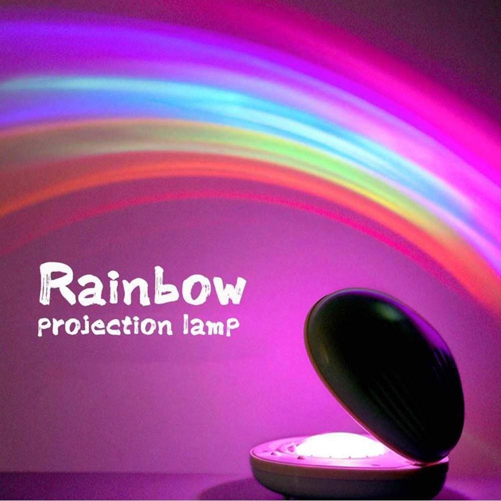 Novelty Rainbow Star Shell Colorful Projection 3D Lamp LED Night Light Scallop Atmosphere Night Light