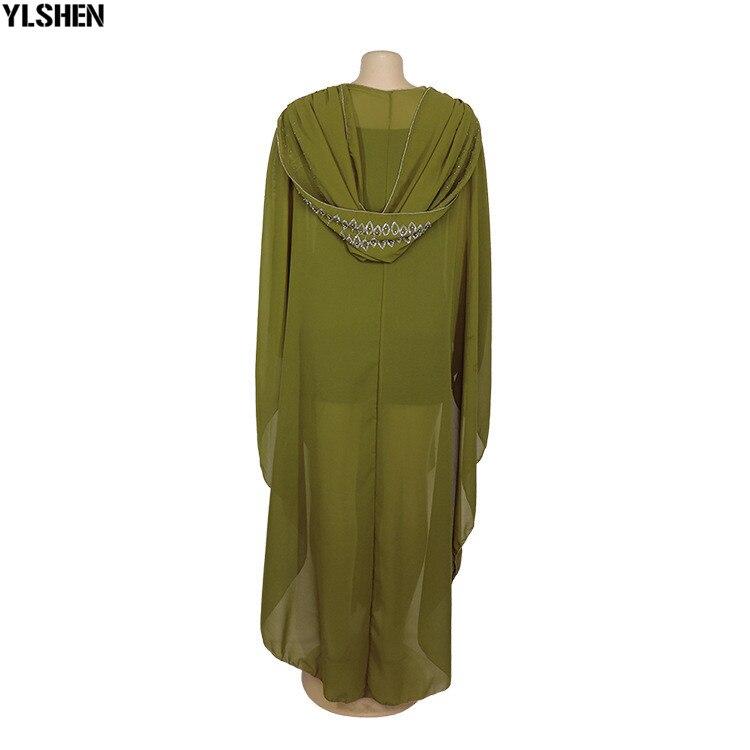 Length 150cm Africa Dress African Dresses for Women Dashiki Diamond Beaded Traditional Boubou African Clothes Abaya Muslim Dress 12