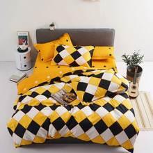 Juego de cama con estampado reactivo para el hogar, funda de edredón, ropa de cama, sábanas planas, 3 o 4 Uds., individual completo