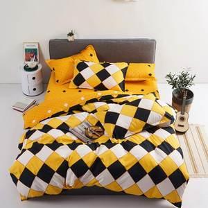 Image 1 - Juego de cama con estampado reactivo para el hogar, funda de edredón, ropa de cama, sábanas planas, 3 o 4 Uds., individual completo
