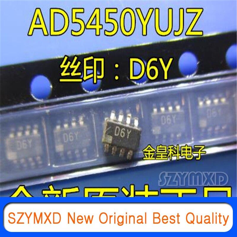 5 шт./лот новый оригинальный AD5450YUJZ AD5450YUJ AD5450 шелк трафаретная печать: D6Y SOT23-8 цифро-аналоговый конвертер в наличии