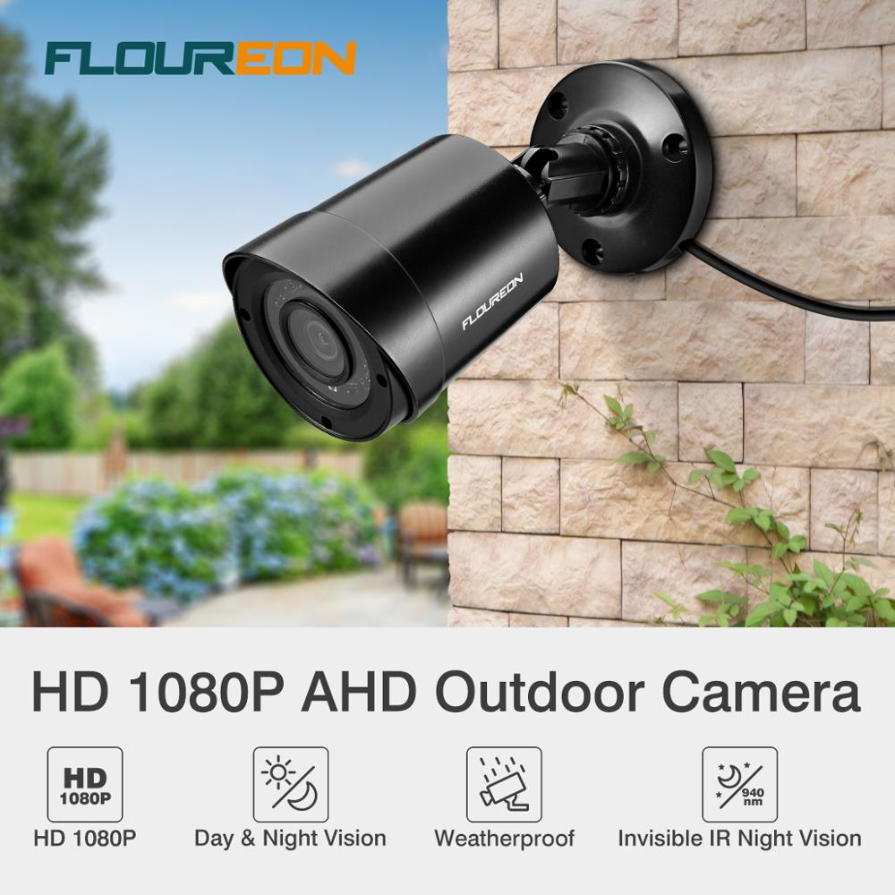 FLOUREON 1080P HD 3000TVL Outdoor CCTV AHD DVR Bullet Security Camera 940nm IR