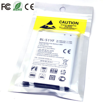 BL-51YF bateria do LG G4 H810 H811 H815 H818 H819 VS999 F500 F500S F500K F500L V32 VS986 US991 LS991 G Stylo BL 51YF baterii