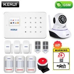 KERUI اللاسلكية الرئيسية WIFI GSM نظام إنذار أمان عدة APP التحكم مع السيارات الطلب كاشف حركة الاستشعار لص نظام إنذار