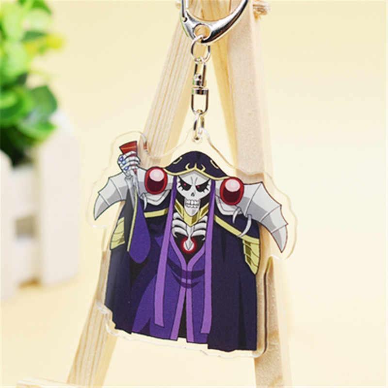 Anime Overlord Momonga Albedo Hamusuke Narberal Gamma Gantungan Kunci Gantungan Kunci Mainan Halloween Cosplay Gantungan Kunci Hadiah Natal