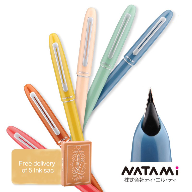 1PCS Japan NATAMI Fountain Pens High Quality First Sight Series Candy Color Pen Spotlight Metal Nib