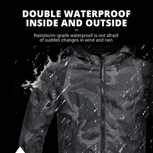 Image 3 - Men Motorcycle Jacket Waterproof Motocross Suit Windproof Moto Protection Wearable Chaqueta Moto With Removeable Linner