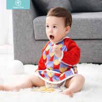 Glücklich flöte PUL Baby Wasserdicht Langarm Fütterung Baby Lätzchen geruchlos für 6-24 Monate baby