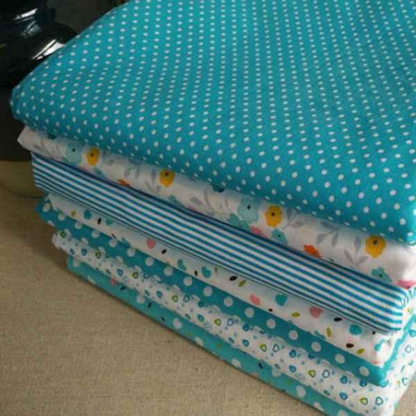 7 шт., 50 см * 50 см, хлопковая ткань с мелким цветочным принтом для шитья, лоскутного шитья, рукоделия, текстиль (светильник b