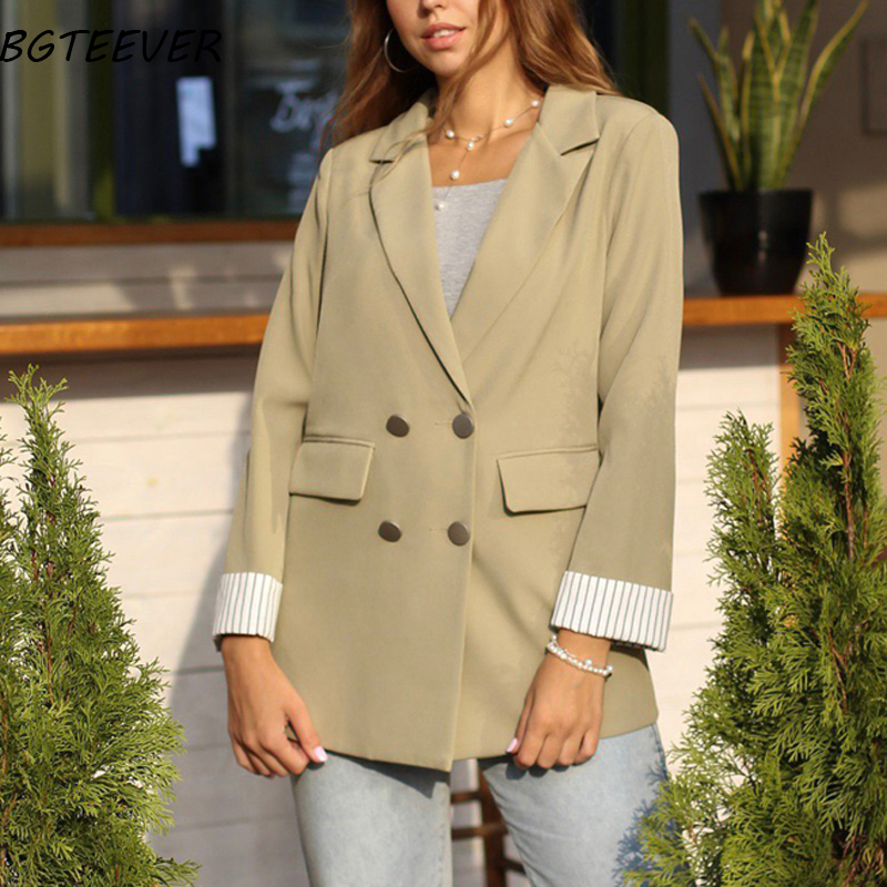 Casual Double Breasted Women Jackets Coat  1