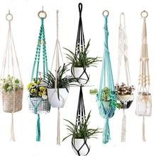 Tray Pot-Holder Plant-Hanger Macrame Flower-Pot for Home Handmade New-Arrival