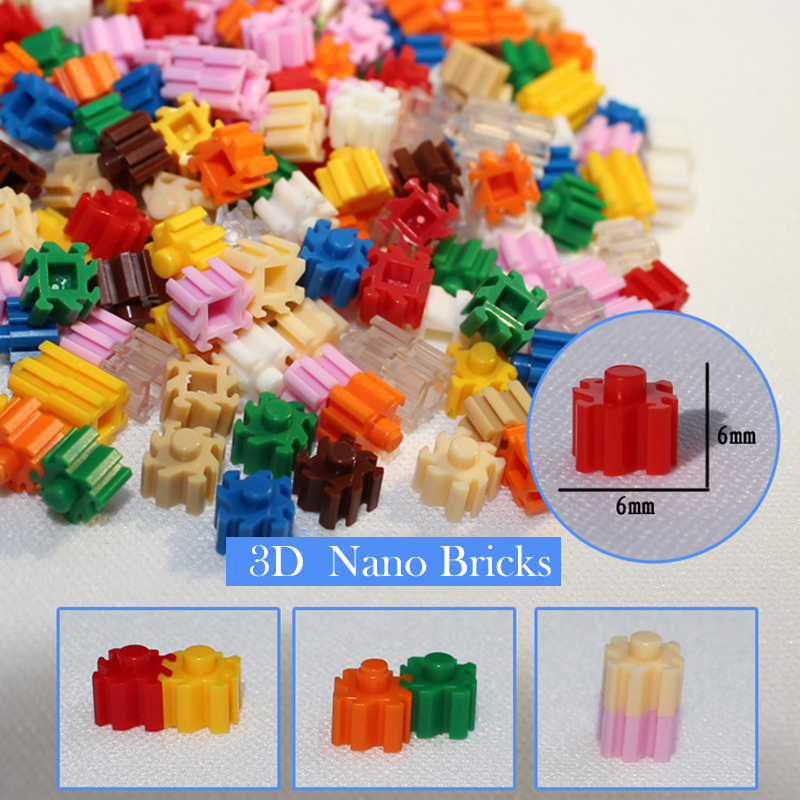 Mini Building Blocks DIY Brick 1x1Dots 200PCS 25Colors Educational Games Toys For Children Compatible With Brands Blocks