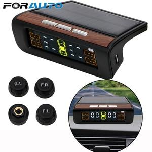 Image 1 - Smart Auto TPMS Reifen Druck Überwachung System Solar Power Digital LCD Display Auto Sicherheit Alarm Systeme Reifen Druck