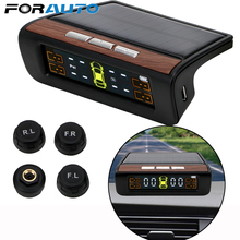 Smart Auto Tpms Bandenspanningscontrolesysteem Solar Power Digital Lcd Display Auto Alarmsystemen Bandenspanning
