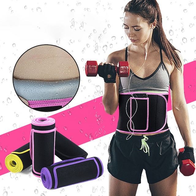 Woman Man Adjustable Trainer Waist Support Fitness Belt Sport Protection Back Absorb Sweat Fitness Sport Protective Gear