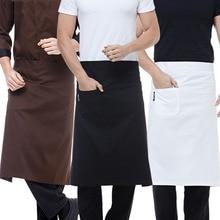 Официант Кухня одежда Для мужчин шеф повара полиэстер Полосатый Для женщин официантка Ресторан повара костюмы кафе карман пальто шеф-повара