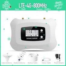 Hot! Amplificateur de Signal 4G LTE 800MHz avec antenne plafond Yagi, kit répéteur pour réseau de téléphonie Mobile