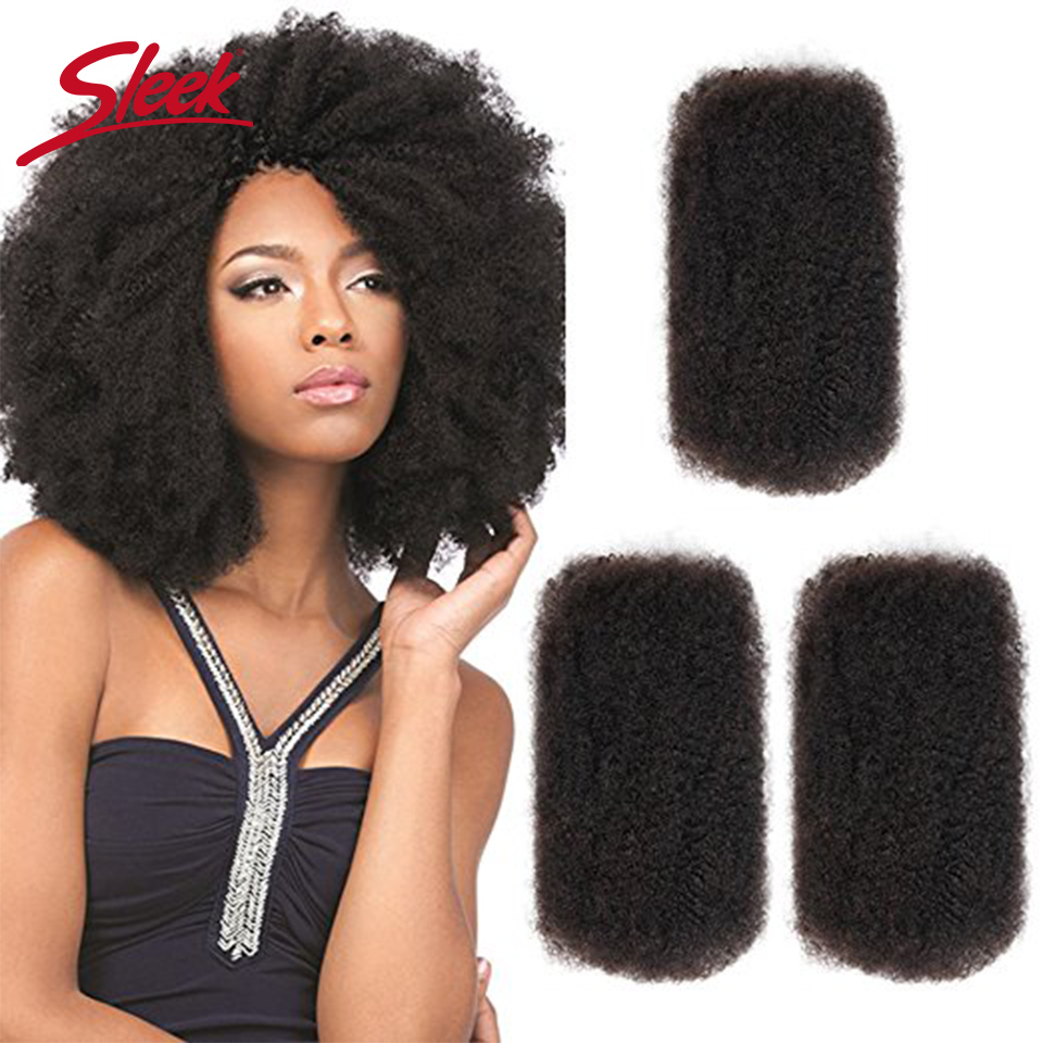 Sleek Remy Bulk Hair No Attachment Mongolian Afro Kinky Curly Wave Human Hair Bulk For 1Pc BraidingNatural Color Braids Hair