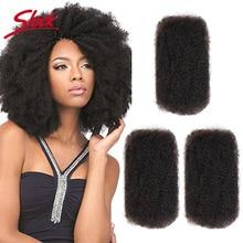 Sleek Remy Capelli Voluminosi No Attachment Mongolo Afro Crespo Ricci Dellonda Dei Capelli Umani di Massa Per 1Pc Intrecciatura Colore Naturale Trecce capelli