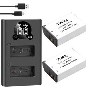 Image 4 - 1800 MAh LPE17 LP E17 LP E17 Pin + Tặng Đèn LED USB Sạc Đôi Cho Canon EOS 200D M3 M6 750D 760D t6i T6s 800D 8000D Kiss X8i Máy Ảnh
