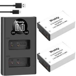 Image 4 - 1800mAh LPE17 LP E17 LP E17 Batterie + LED Chargeur Double USB pour Canon EOS 200D M3 M6 750D 760D T6i T6s 800D 8000D Baiser X8i Caméras