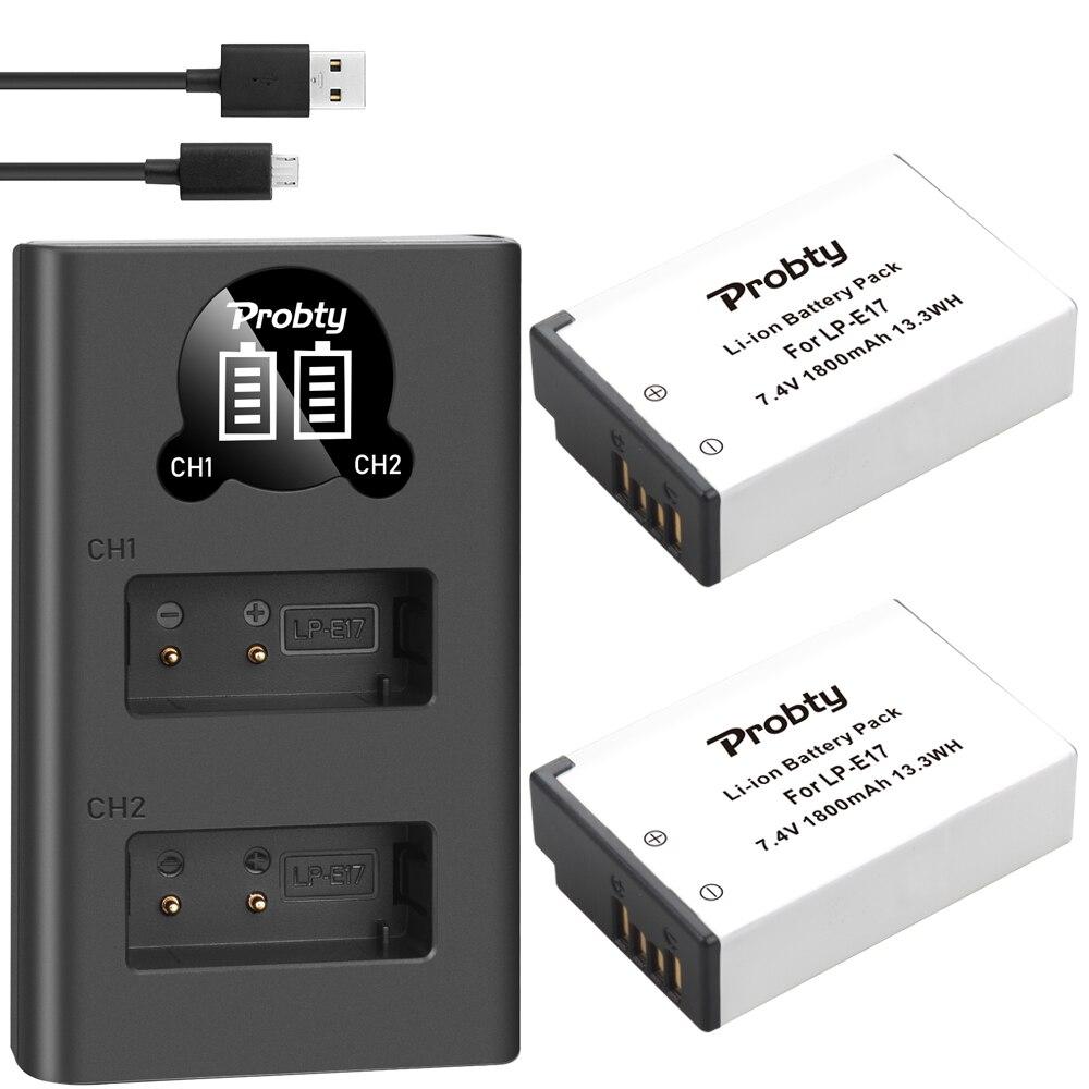 Image 4 - 1800mAh  LPE17 LP E17 LP E17 Battery+LED USB Dual Charger for Canon EOS 200D M3 M6 750D 760D T6i T6s 800D 8000D Kiss X8i CamerasDigital Batteries   - AliExpress