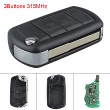 315MHz 3 Buttons Car key Keyless Uncut Flip Remote Key Fob PCF7941 Chip for Land Rover 1999-2011/Land Rover Discovery 3 LR3 цена и фото