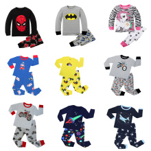 Детские пижамы с рисунками животных; пижамы с динозаврами из мультфильмов; Пижама для мальчиков; детская одежда; пижамы для малышей