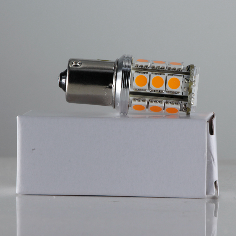 Купить с кэшбэком lampadina led light PY21W S25 1056 BAU15S Amber / yellow 4W 12V 24v auto track Exterior Lights Direction Indicator bulb lamp
