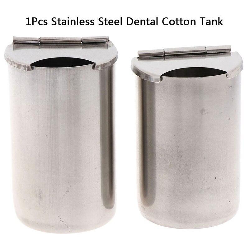 1X Нержавеющая сталь оральный цилиндр держатель стоматологический медицинский хлопковый бак для дезинфекции алкоголя контейнер банка