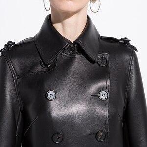 Image 5 - AYUNSUE, 100% натуральная овечья шерсть, пальто для женщин, уличная одежда, длинные пуховики, осенне зимняя куртка, женские Куртки из натуральной кожи, MY3731