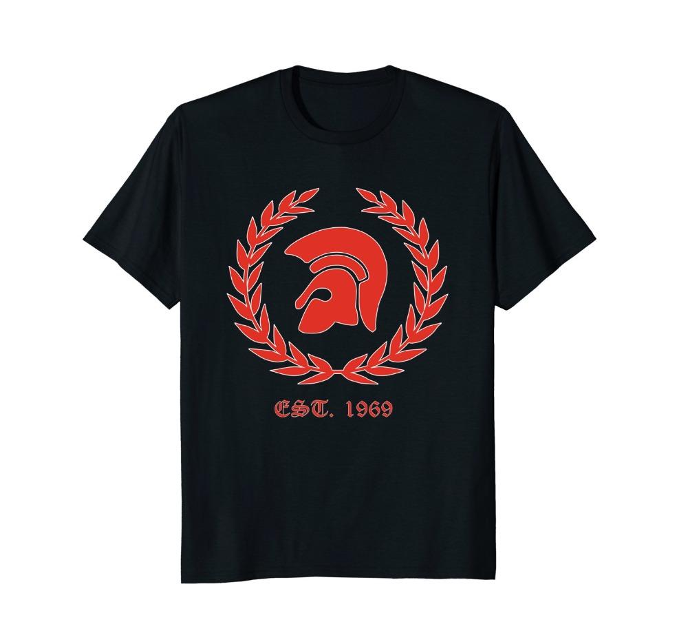 T-Shirt 2019 Fashion Men Classic Tops Tee Shirts Trojan Skinhead T-Shirt Ska,Punk,Oi,Revolution,1969 Funny Casual Tee Shirts