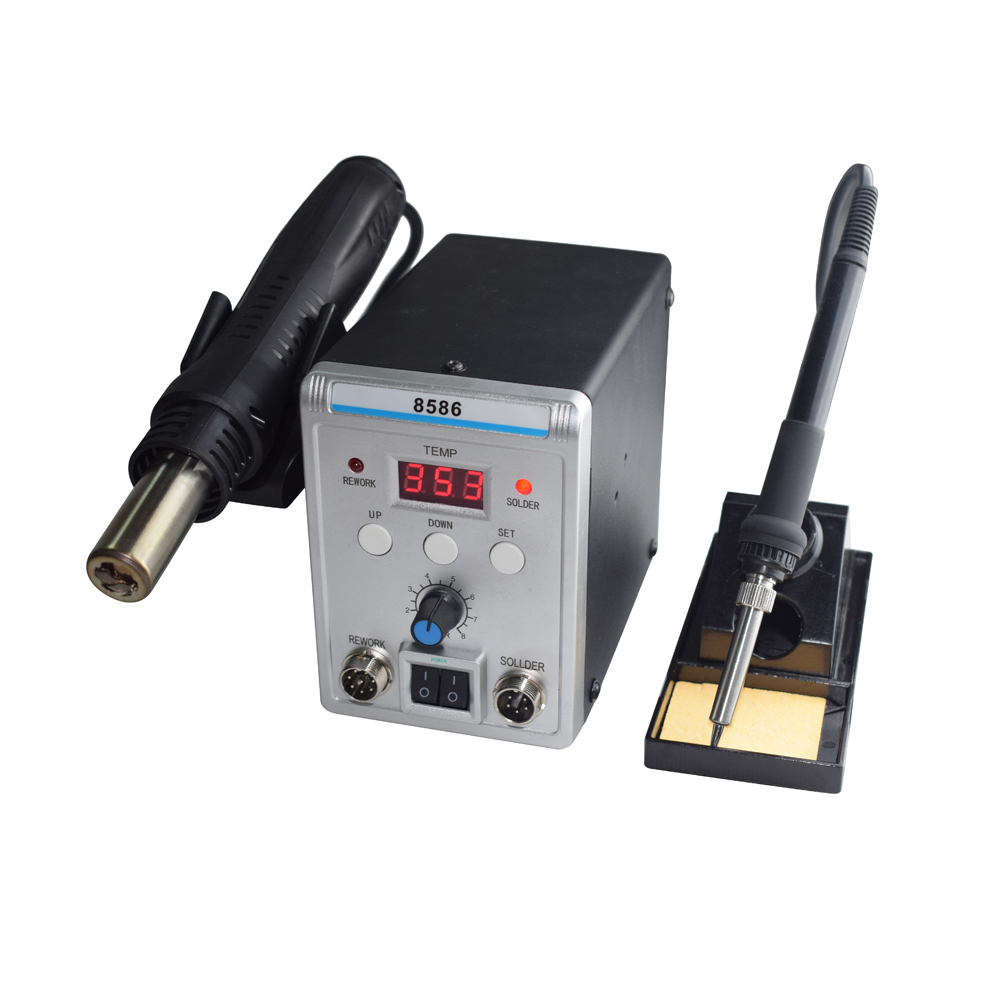 Lead Free Digital Soldering Station with Hot Air Gun for Repairing Chip of Electronic Instruments