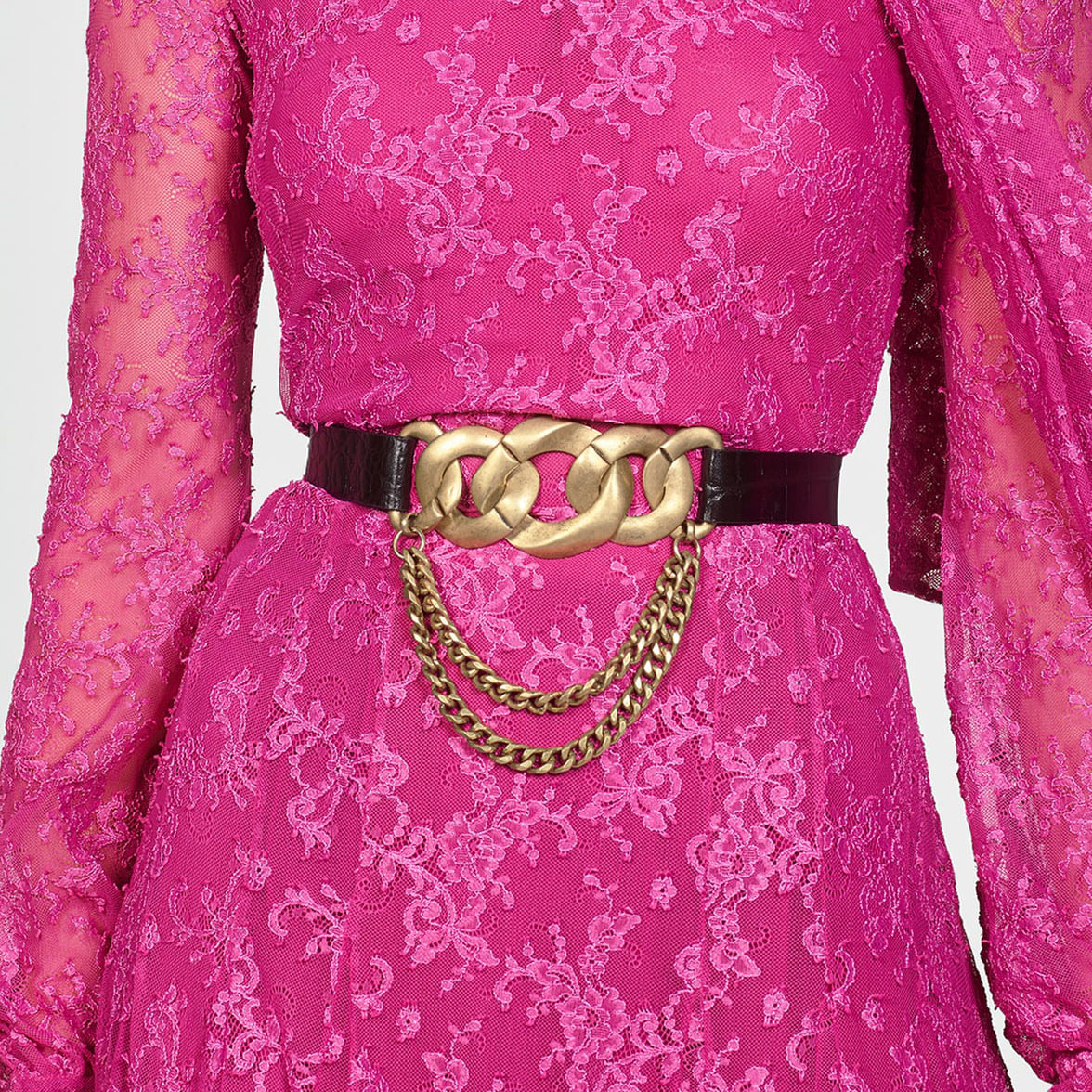 Miwens 2019 New Za Metal Link Leather Belt For Women Vintage Gold Maxi Button Waist Belts Bohemia Christmas Belly Chains Jewelry