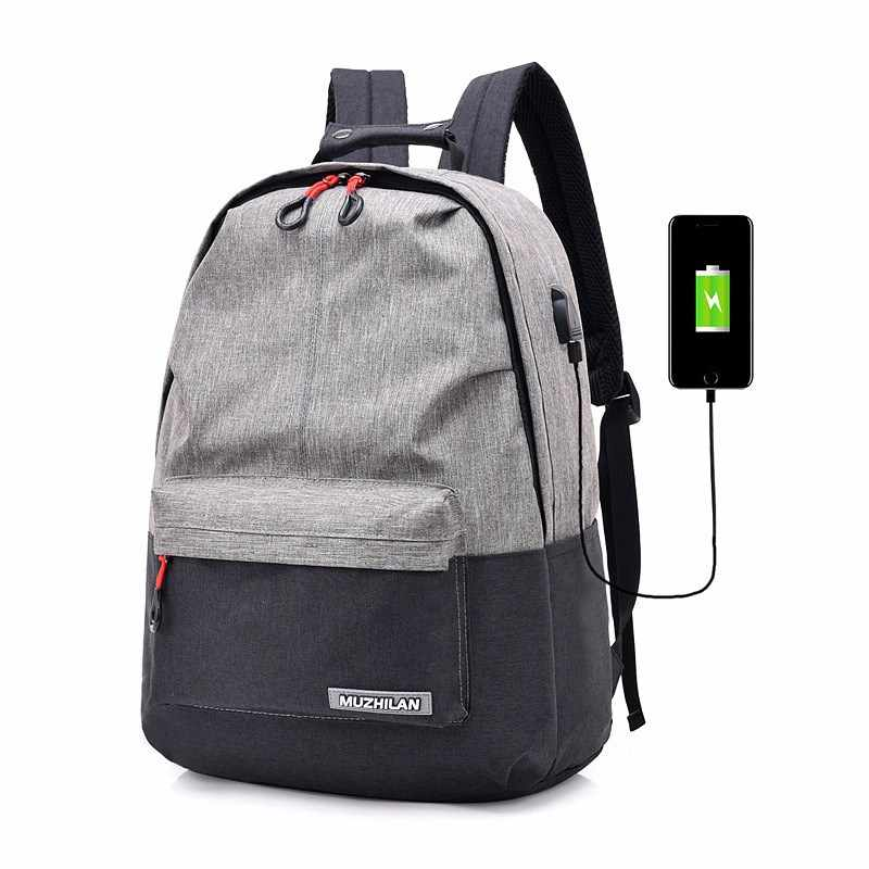 HEFLASHOR рюкзаки мужские Back Pack для школьная сумка-рюкзак для женщин колледжа холщовый рюкзак usb зарядное устройство Зарядка школьный ноутбук