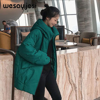 2019 women parkas jackets female coat outwear jackets winter women parka coat thicken double warm streetwear M XXL Plus Size