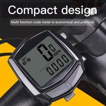 Bicicleta à prova dwaterproof água computador com lcd display digital velocímetro odômetro ciclismo com fio cronômetro acessórios de equitação